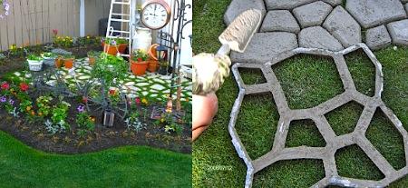 Плитка для сада из цемента